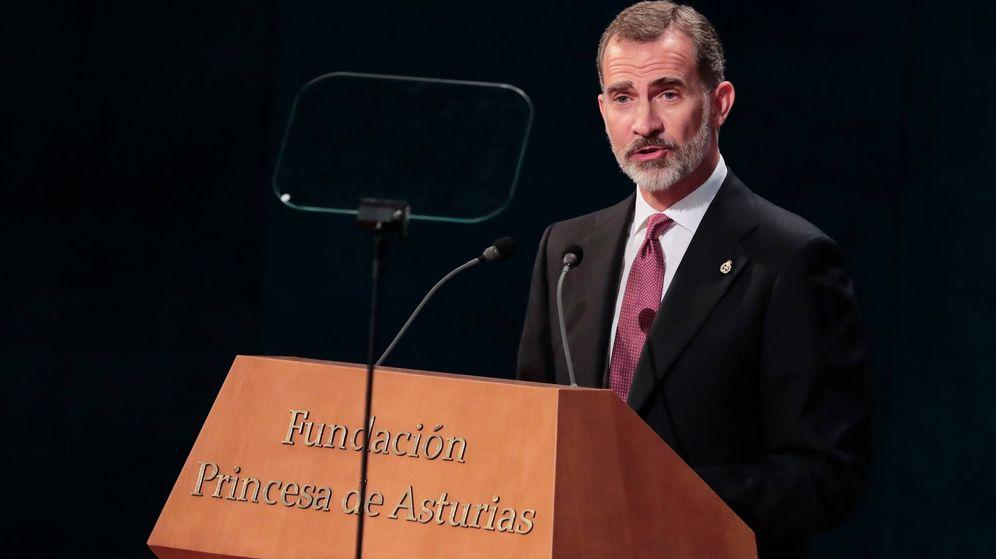 Foto:  El rey Felipe, durante la entrega de premios. (Limited Pictures)