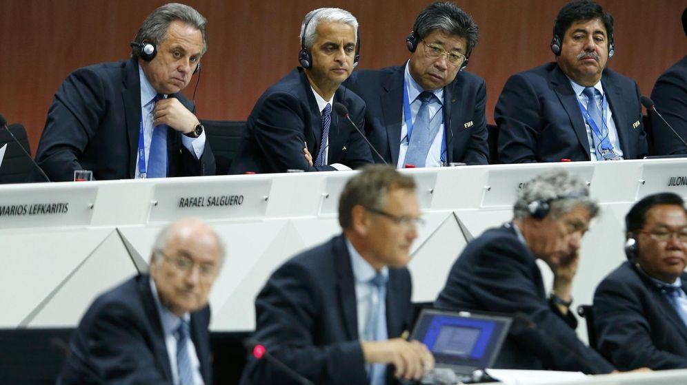 Foto: El Comité Ejecutivo de la FIFA, con Blatter a la cabeza