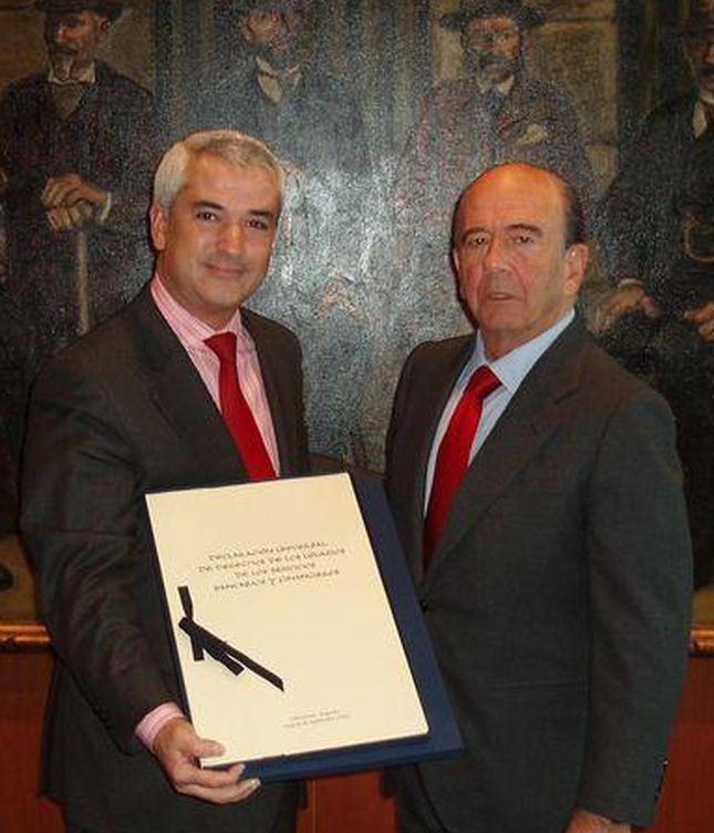 Luis Pineda y Emilio Botín. (Foto: Pinterest)