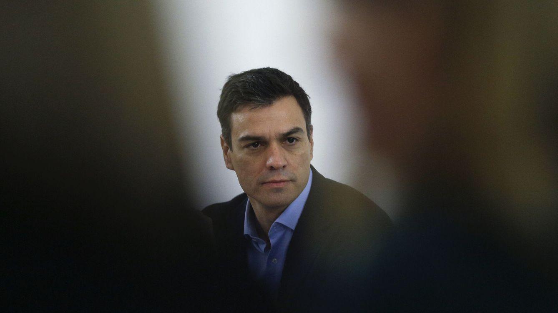 Foto: Pedro Sánchez, durante la reunión de la ejecutiva federal que siguió a las últimas elecciones generales, el pasado 21 de diciembre en Ferraz. (Reuters)