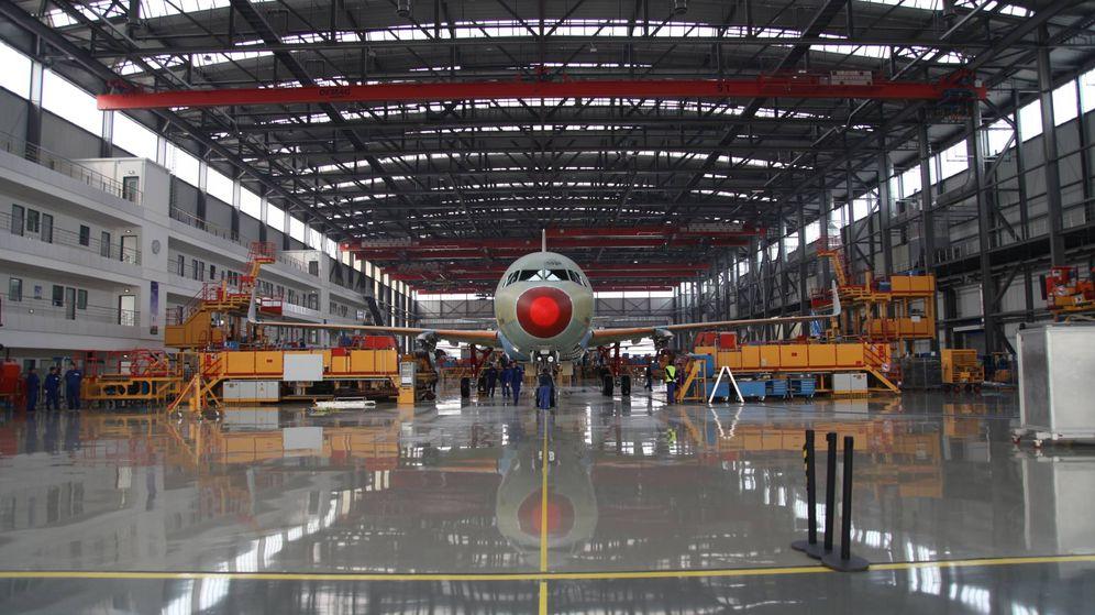 Foto: Línea de ensamblado del Airbus A320 en Tianjin, (China). (Foto: Airbus)