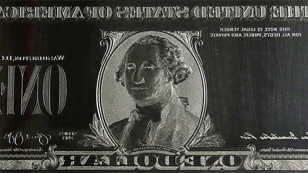 Foto: Plancha de un billete de dólar