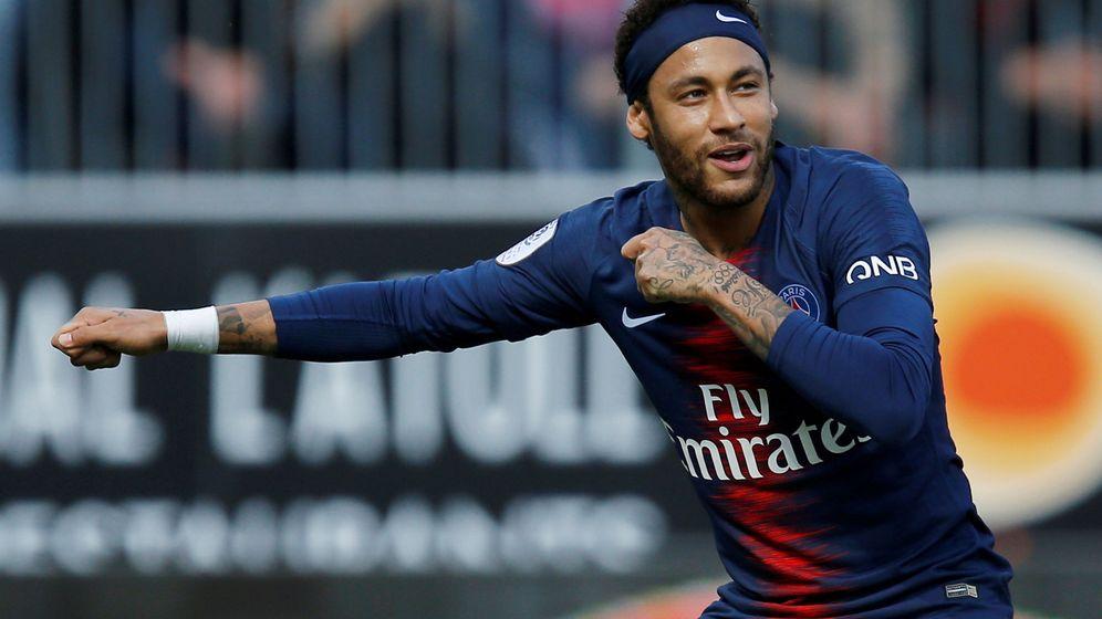 Foto: Neymar celebra un gol con la camiseta del PSG. (Reuters)