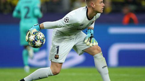 Sin efecto Messi: el chaparrón al Barcelona en Dortmund que soportó Ter Stegen