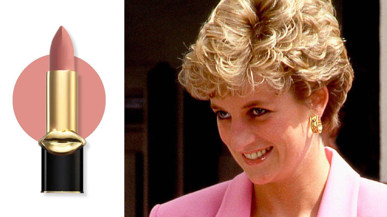 Los labios de Diana podían estar maquillados con un acabado mate o gloss,   pero el tono siempre era un nude acoralado. (AL)