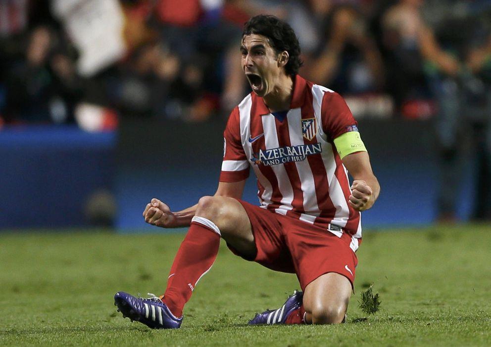 Foto: Tiago celebra un gol del Atlético la temporada pasada (Reuters).
