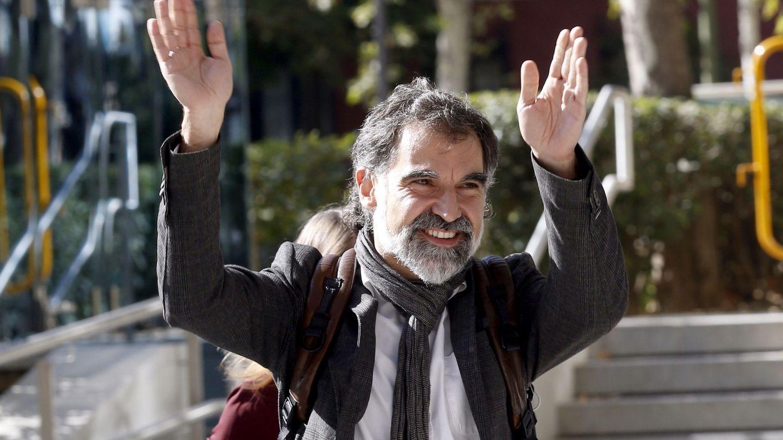 El exlíder de Òmnium Cultural, Jordi Cuixart, antes de prestar declaración por sedición ante la AN. (EFE)