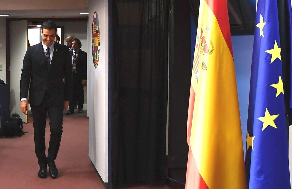 Foto: Pedro Sánchez, en su comparecencia posterior al Consejo Europeo de este 2 de julio, en Bruselas. (EFE)
