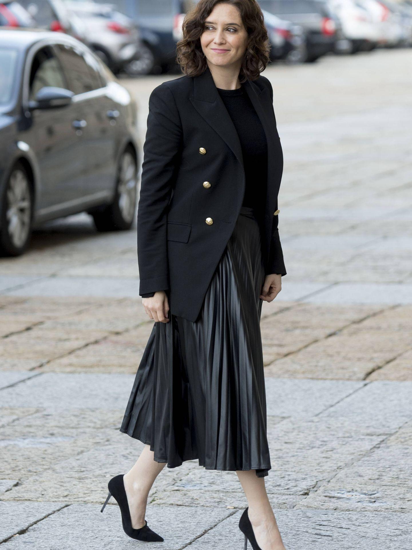 Isabel Díaz Ayuso, en el funeral de Pilar de Borbón. (Getty)