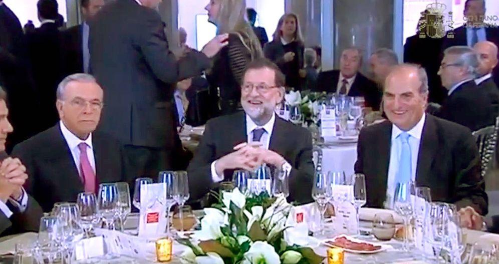 Foto: El banquero coincidió con Rajoy el pasado 22 de octubre en la entrega de los premios de Foment del Treball.