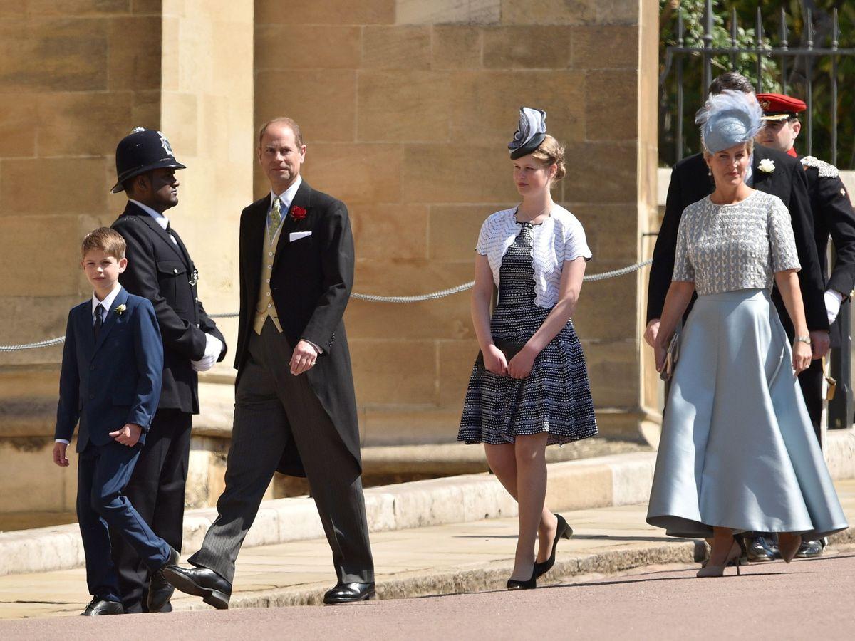 Foto: Lady Louise, en la boda de Meghan y Harry. (EFE)