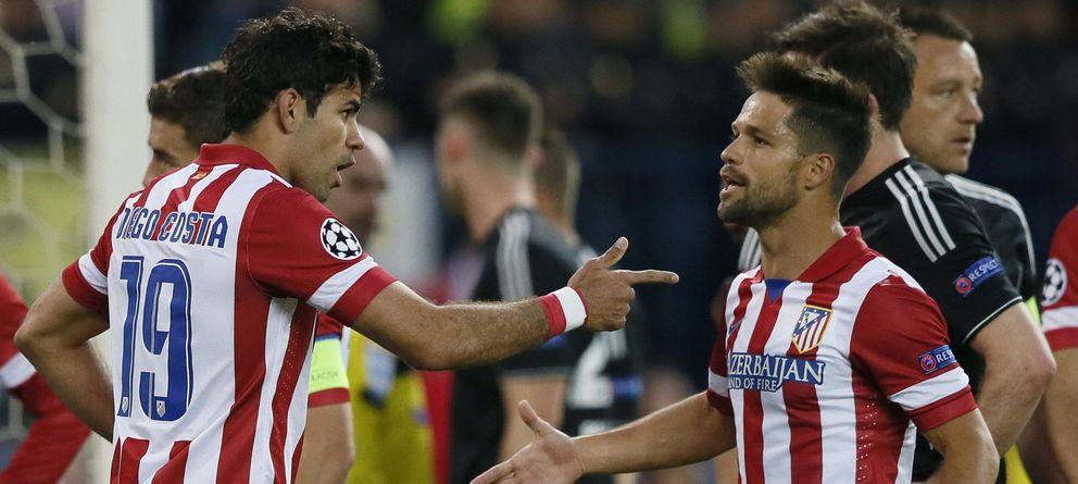 Foto: Diego Ribas entró en el once del Atlético en el puesto de Villa (EFE).