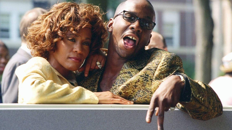 Whitney Houston con Bobby Brown. (Getty)