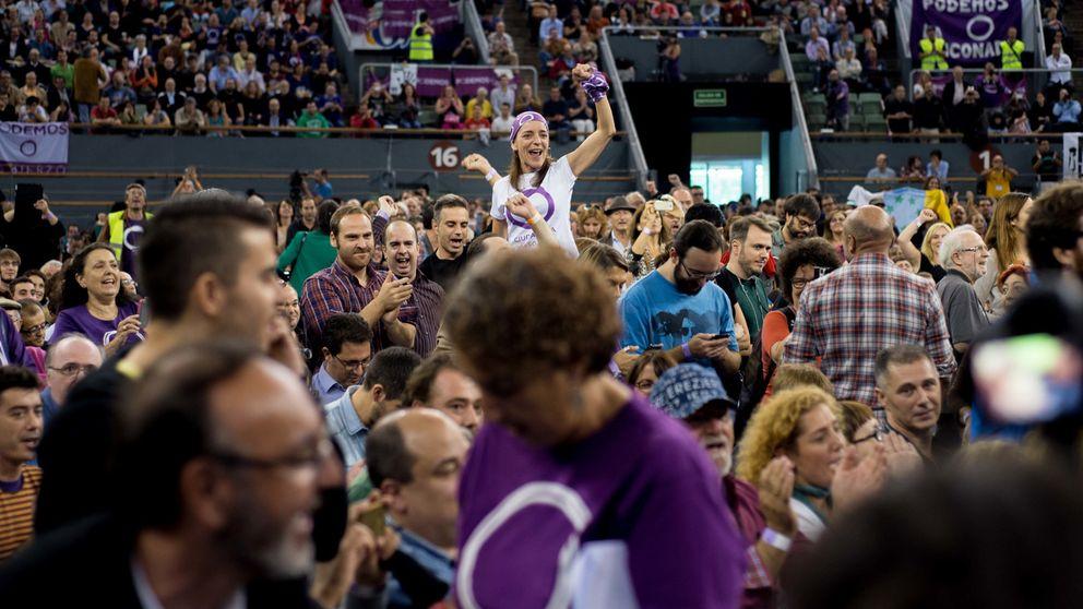 La línea que separa a los votantes de Pablo Iglesias y a los de Le Pen