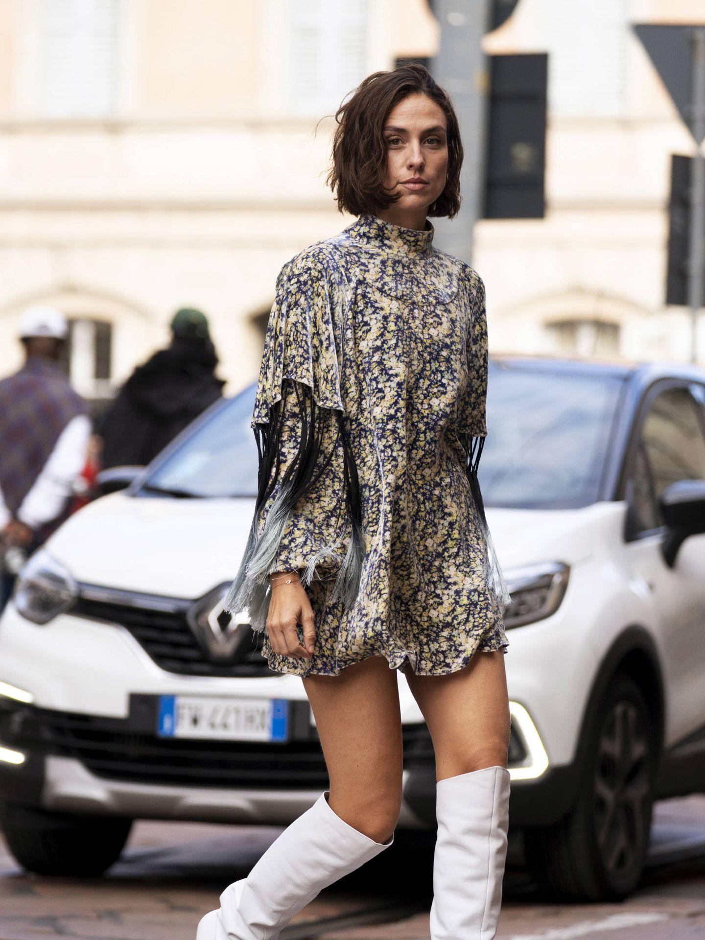 La italiana Erika Boldrin con el look. (Imaxtree)