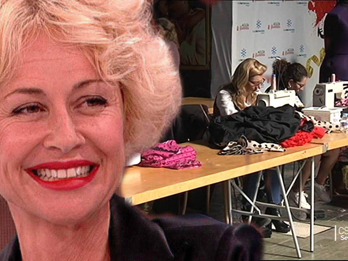 Foto: Esther Arroyo, en 'Amigas y conocidas' (TVE); Imagen del casting de 'Aguja flamenca' (Canal Sur)