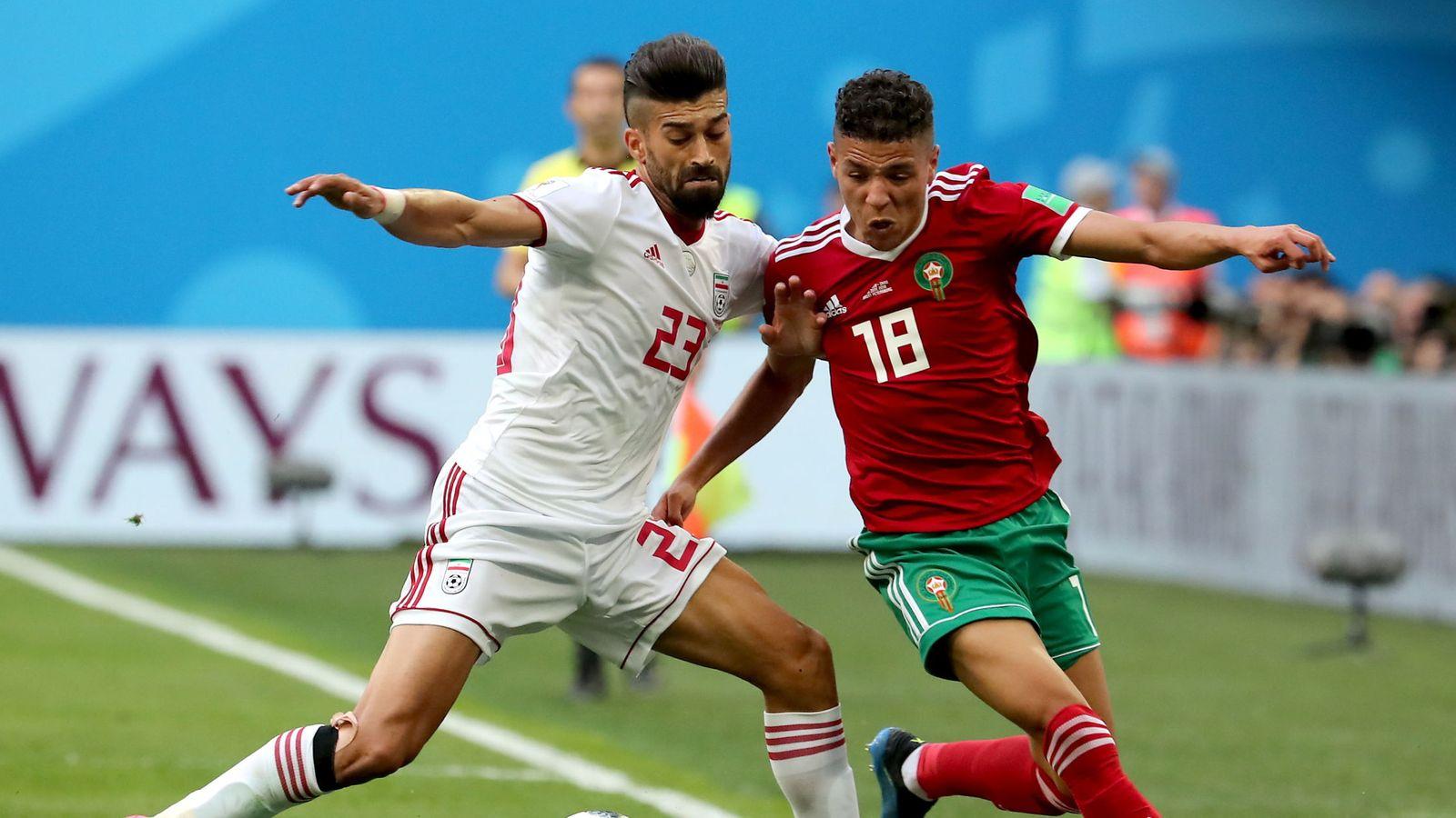 Foto: Group b morocco vs iran