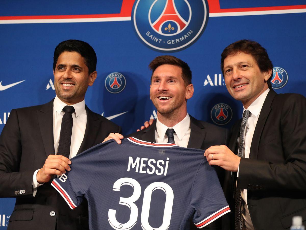 Foto: Leo Messi, durante su presentación como nuevo jugador del PSG. (Reuters)