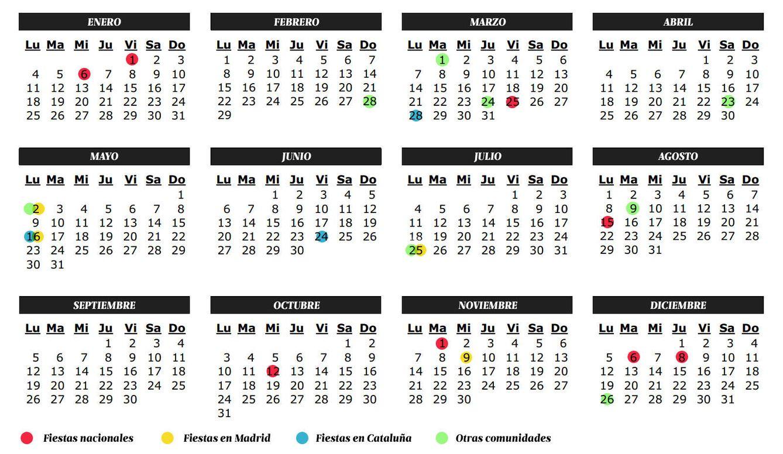 Foto: Calendario laboral para 2016 (Daniel Muñoz)