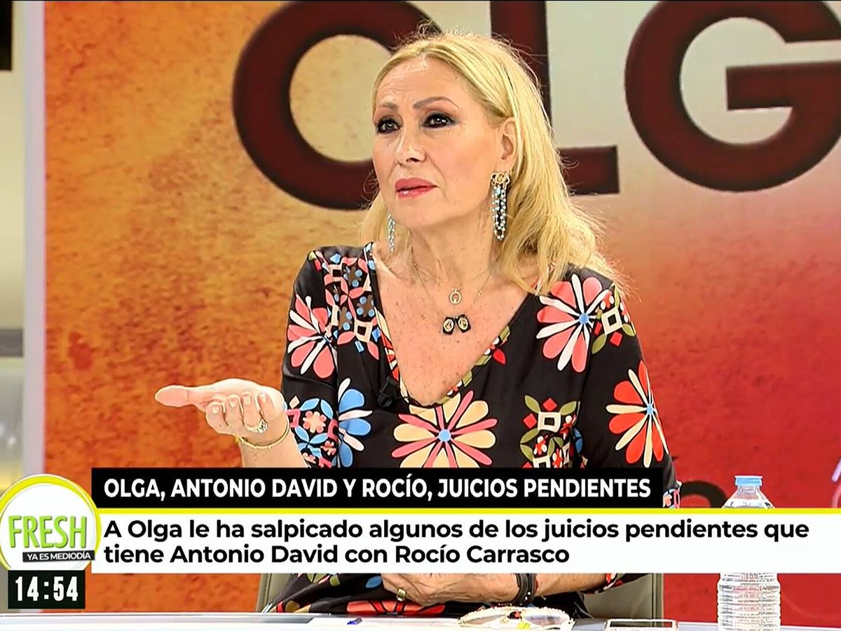Foto: Rosa Benito, en 'Ya es mediodía'. (Mediaset)