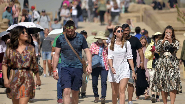 Turistas en Egipto. (Reuters)