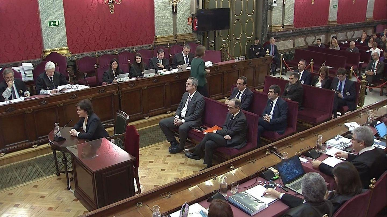 Vista general de la sala, durante la declaración como testigo. (EFE)