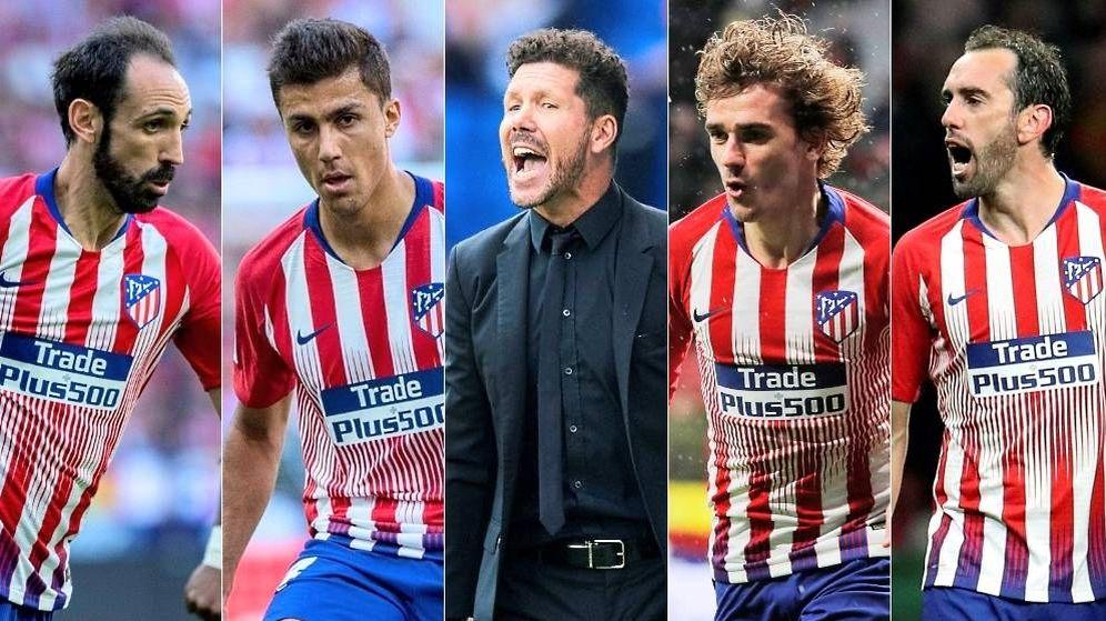 Foto: Cuatro jugadores ya se han despedido del Atlético de Madrid. Y puede salir alguno más. (Montaje: EC)