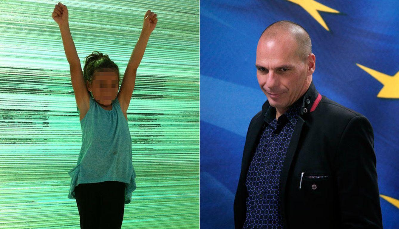 Foto: El ministro de Finanzas heleno, Yanis Varufakis, junto a su hija (Yanisvaroufakis.eu y Gtres)
