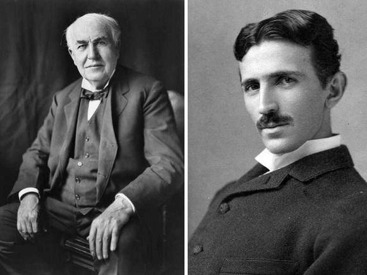Nikola Tesla y Thomas Alva Edison
