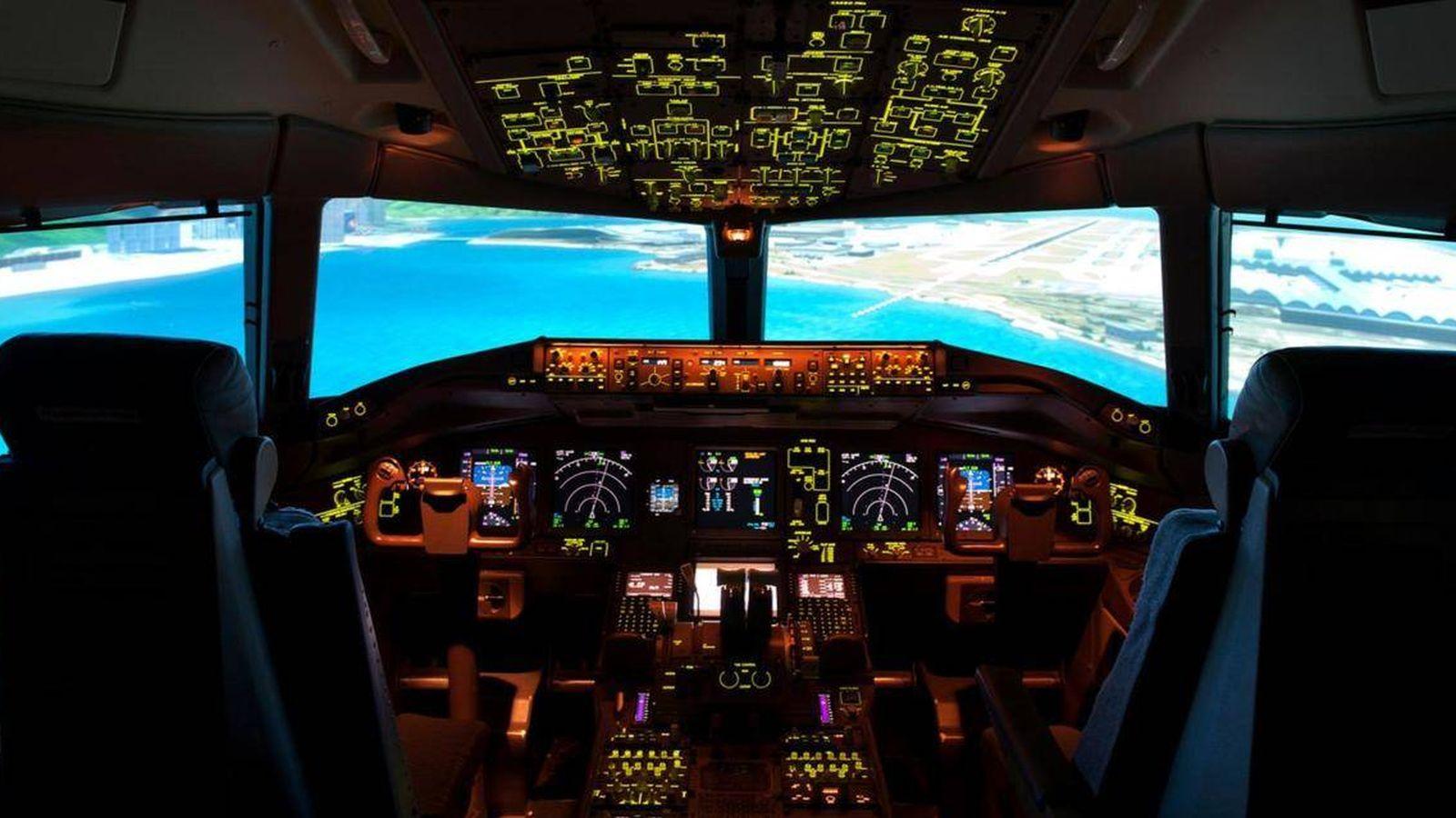 Foto:  La cabina de uno de los aviones de Boeing, que ya ha empezado a probar prototipos de aviones completamente autónomos.