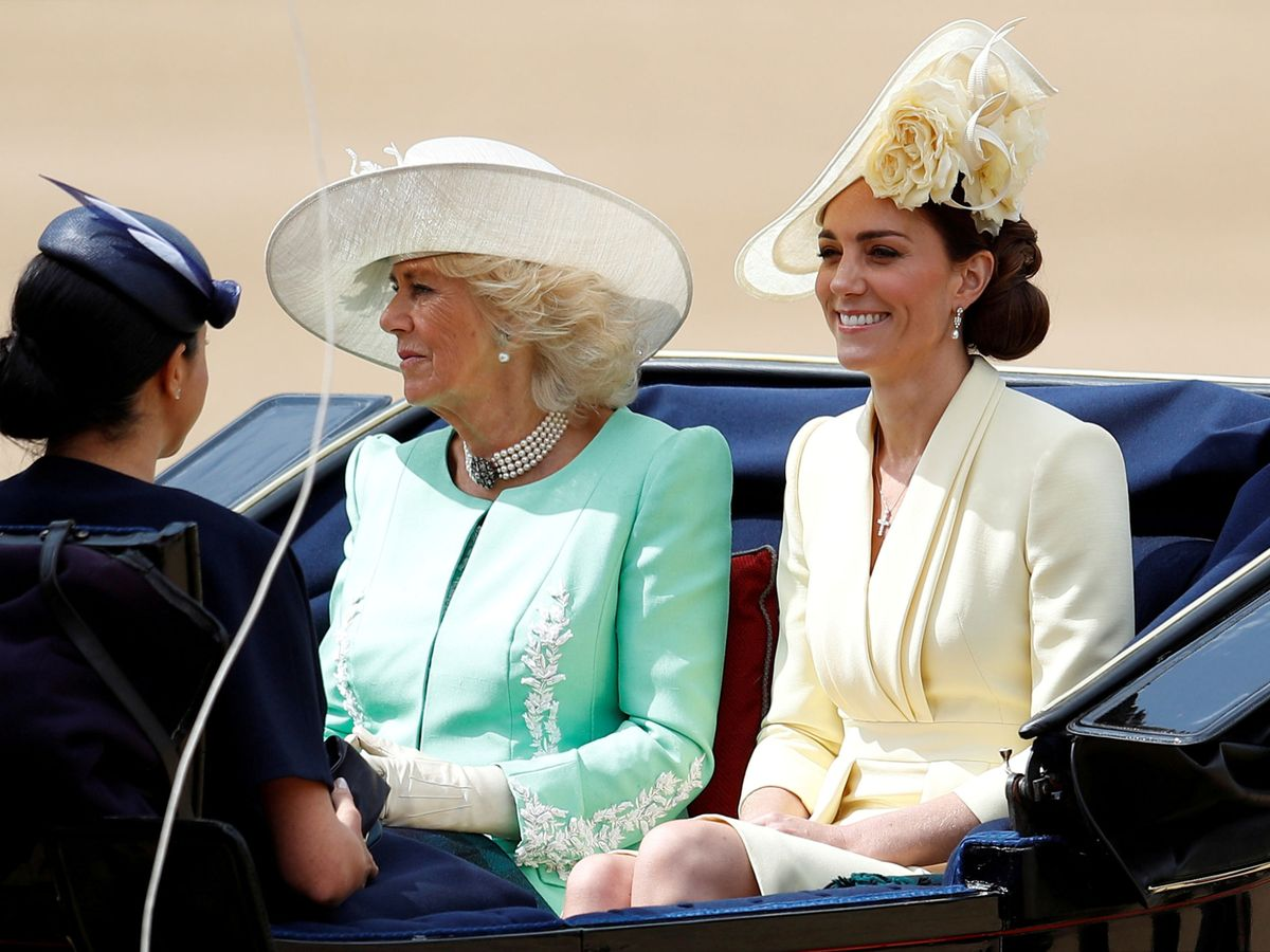 Foto: Camilla Parker y Kate Middleton, en el Trooping the Colour 2019. (Reuters)