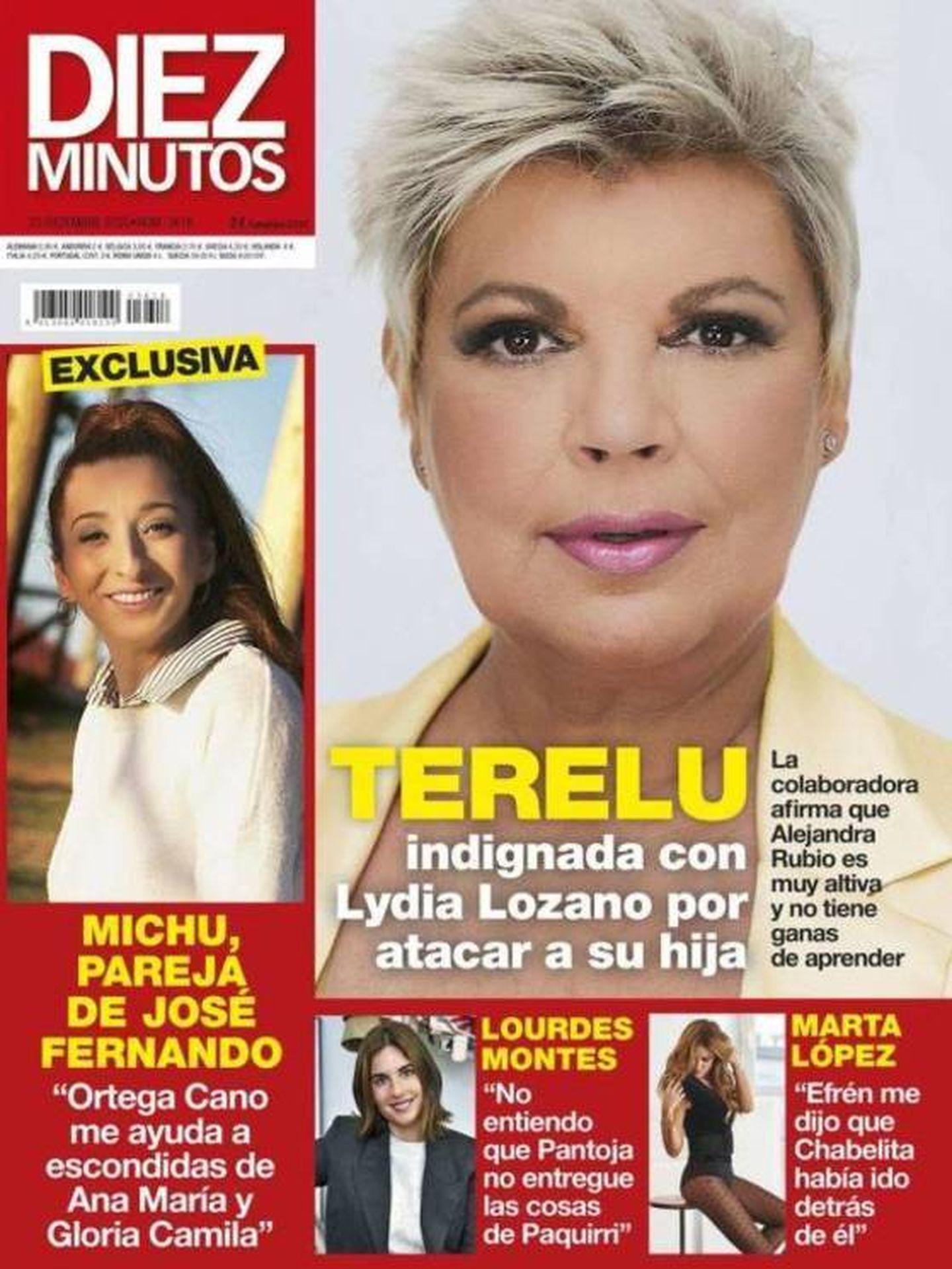 Lourdes Montes, en la portada de 'Diez Minutos'.