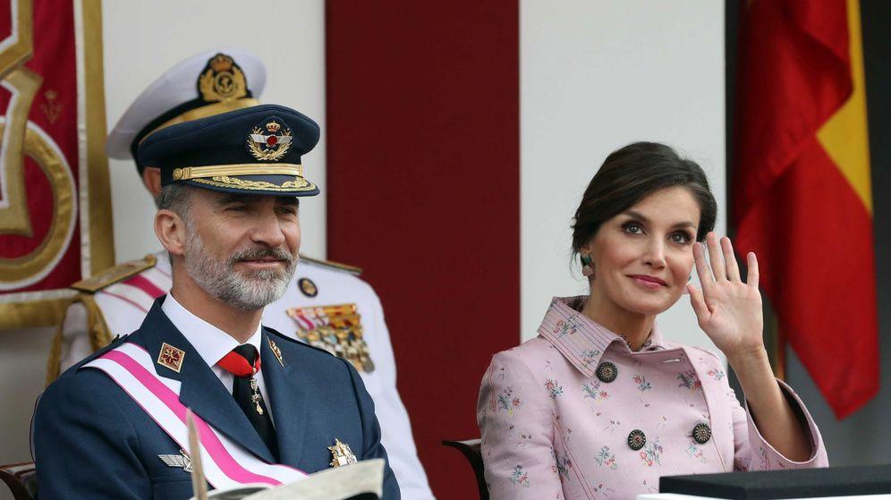 Foto: El rey Felipe y la reina Letizia en el acto central del Día de las Fuerzas Armadas. (EFE)