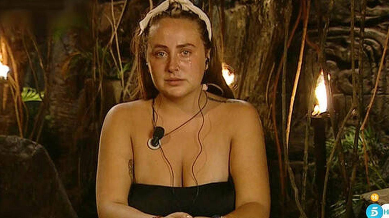 Rocío Flores, en 'Supervivientes'. (Telecinco)