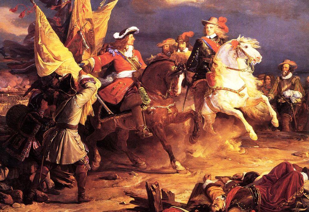 Foto: Felipe V y  Louis Joseph, Duque de Vendôme tras vencer en la batalla de Villaviciosa. (Jean Alaux)