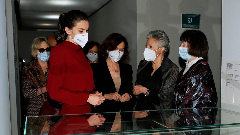 La reina Letizia, en la muestra dedicada a Concepción Arenal. (Limited Pictures)