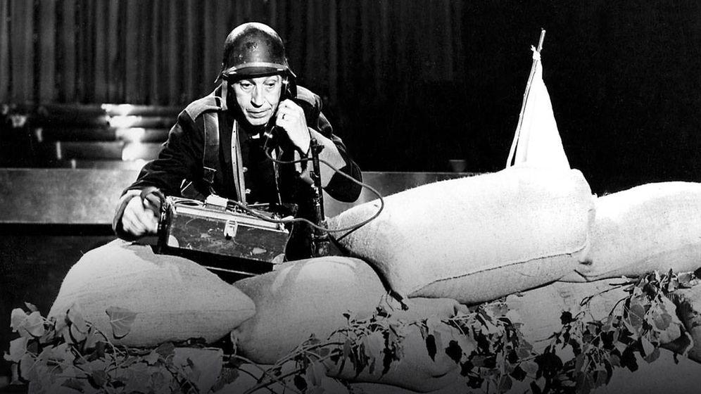 Foto: El cómico Gila, en televisión.