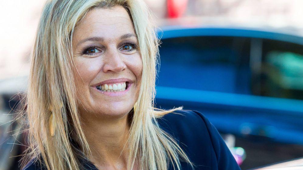Foto:  Máxima de Holanda, a su llegada al acto. (Cordon Press)