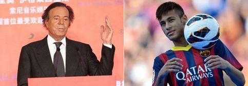 Julio Iglesias dejó su avión a Neymar para que viajara a Barcelona