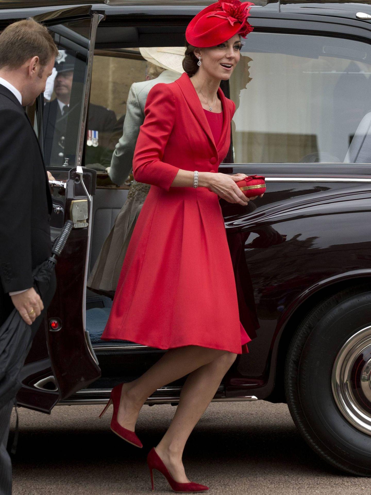 La duquesa de Cambridge, con salones de Gianvito Rossi. (Getty)