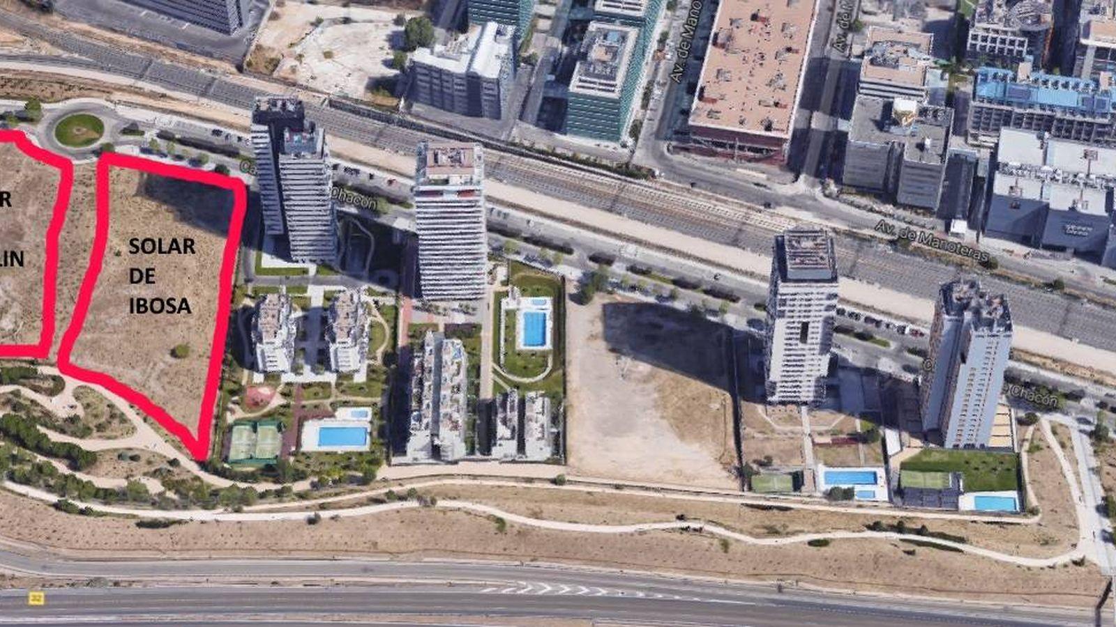 Foto: Imagen aérea de Isla Chamartín.