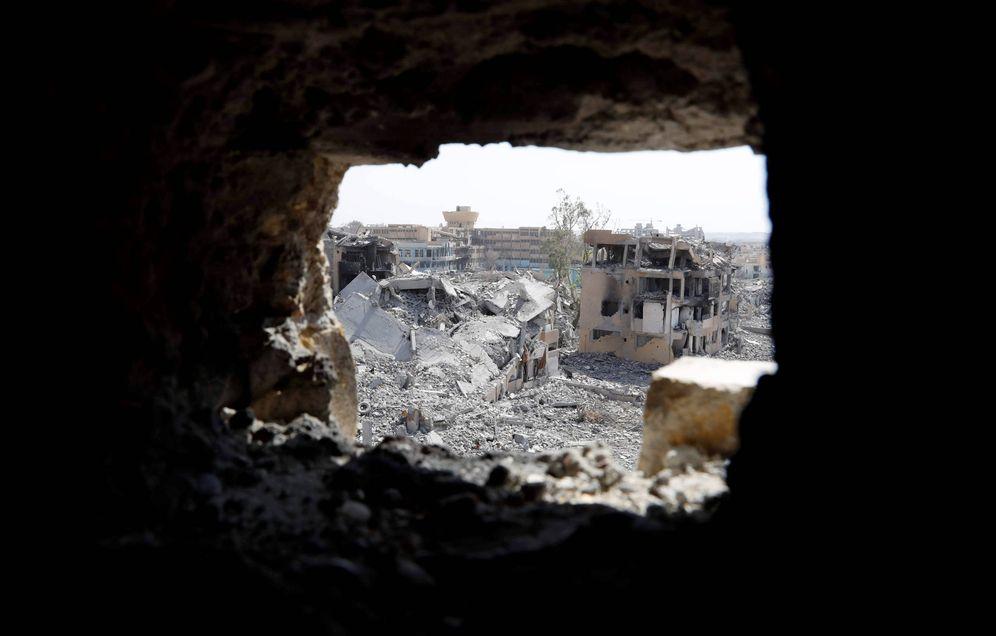 Foto: El Hospital Nacional, último refugio de los combatientes del Estado Islámico en Raqqa, Siria. (Reuters)