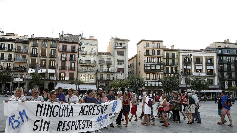 Foto: Concentracion contra las agresiones sexuales en Pamplona el pasado 5 de septiembre. (EFE)