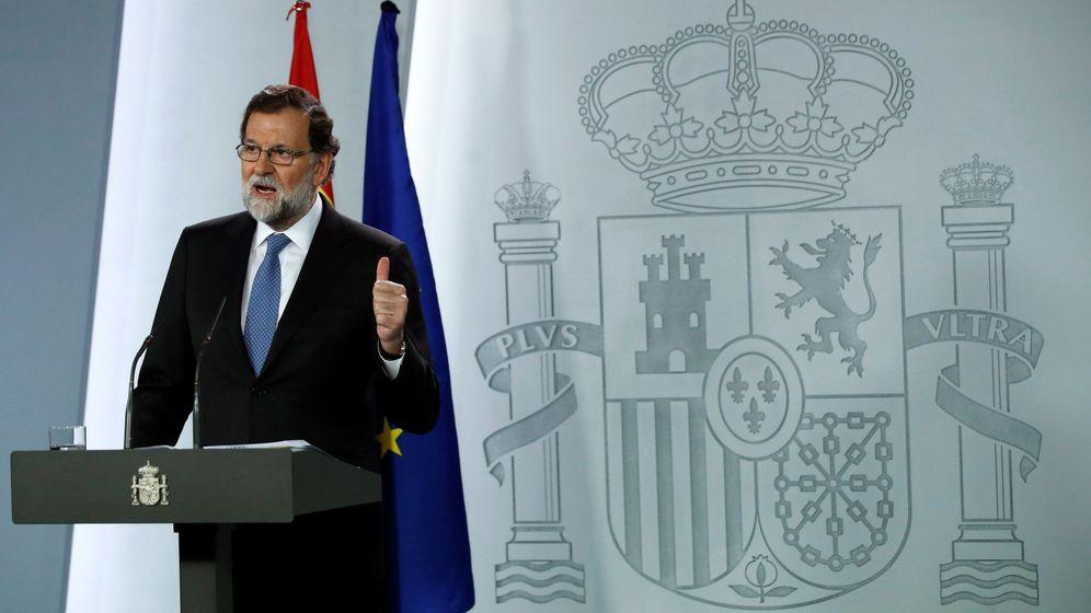 Foto: El presidente del Gobierno, Mariano Rajoy, en La Moncloa (EFE)