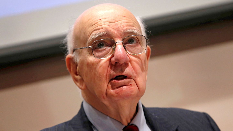 Paul Volcker, en una conferencia. (Reuters)