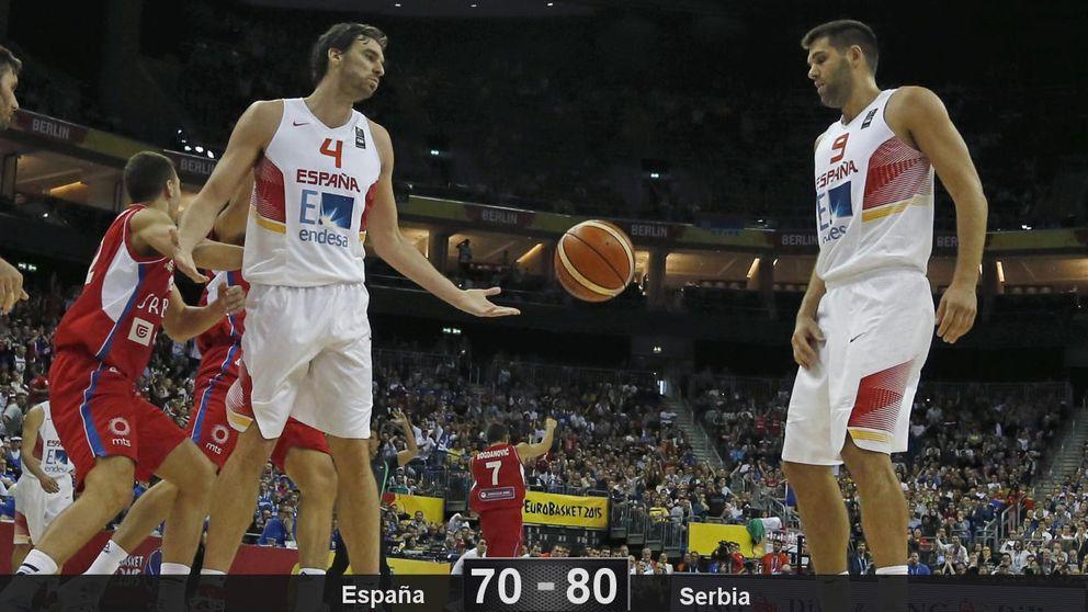El orgullo de Pau Gasol no le basta a España para ganar a Serbia