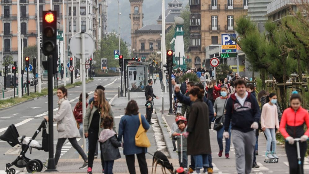 Foto: Imagen de San Sebastián tomada este pasado domingo. (EFE)