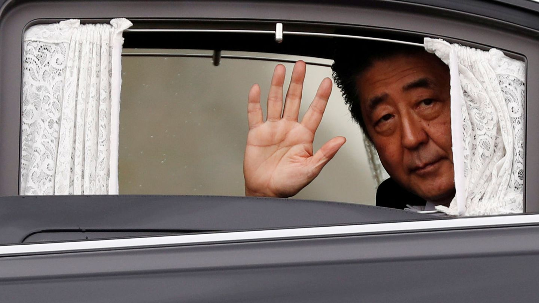 Shinzo Abe, tras la entronización. (Reuters)
