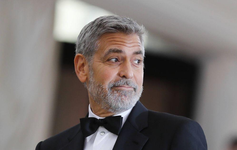 Foto: George Clooney poco antes de la gala. (Gtres)