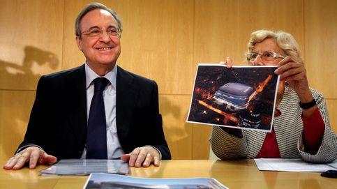 Florentino se queda sin hotel ni tiendas en el Bernabéu Cepsa, pero no le duele